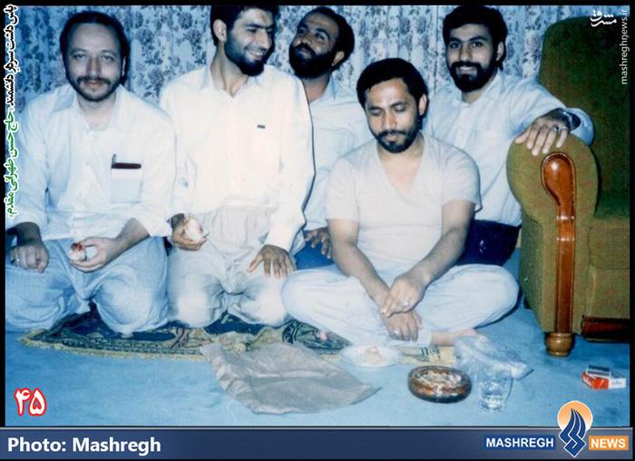 حسن طهرانی مقدم -(نفر دوم از چپ)- سفر هیات نظامی ایران به «کره شمالی» - شهید «حاج حسن شفیع» زاده نیز در عکس دیده می شود