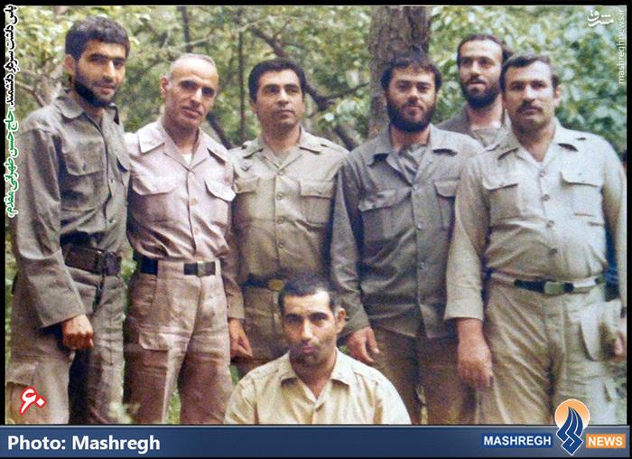 حسن طهرانی مقدم (نفر اول از چپ)- شهید «حاج حسن شفیع زاده» نیز در عکس دیده می شود