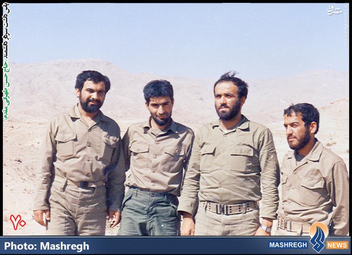 حسن طهرانی مقدم (نفر دوم از چپ)- شهید «حاج حسن شفیع زاده» نیز در عکس دیده می شود
