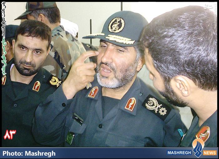 حاج حسن طهرانی مقدم در کنار شهید «حاج احمد کاظمی»