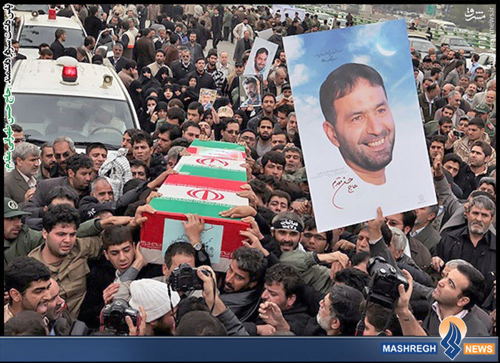 تشییع پیکر شهید حاج حسن طهرانی مقدم