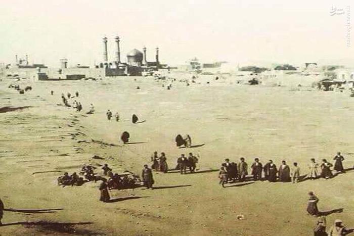 زائران اربعین حسینی در حرکت به سمت کربلا معلی سال  1915