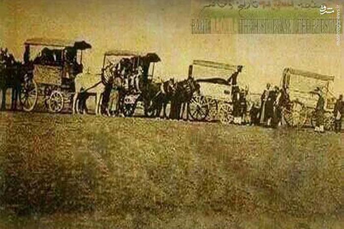 زائران اربعین حسینی در حرکت به سمت کربلا معلی سال  1905