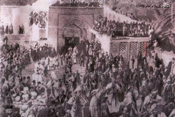 زائران حسینی کربلا معلی سال  1909