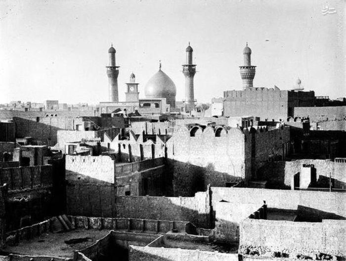 نمایی از شهر کربلای معلی حرم امام حسین (عليه السلام) در سال 1932 میلادی