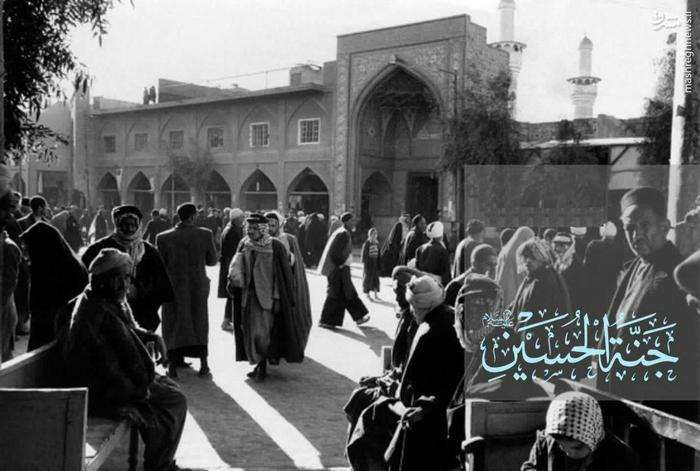 نمایی از شهر کربلای معلی حرم امام حسین (عليه السلام) دروازه معروف به «باب القبلة» سال 1956 میلادی