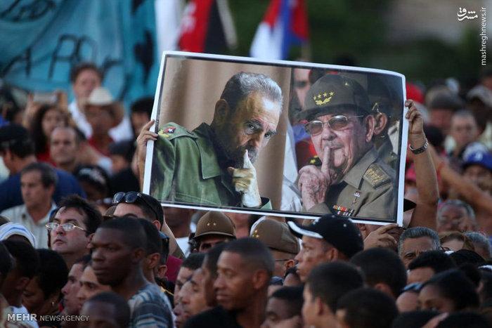 عکس/ مقامات کشورهای مختلف در مراسم یادبود کاسترو