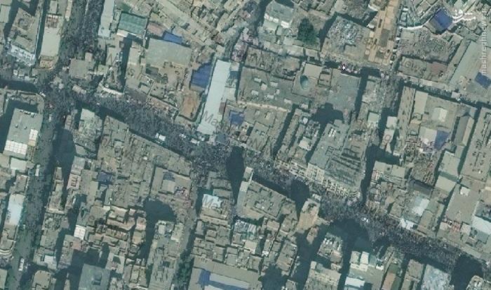 خیابان های اطراف حرمین کربلا 9 روز مانده به اربعین