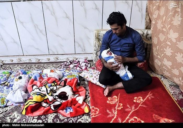 تولد چهارقلوها در سیستان و بلوچستان,چهار قلو,عکس چهار قلوهای بامزه