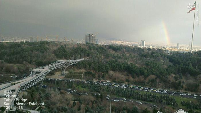 نمایی زیبا از هوای بارانی تهران