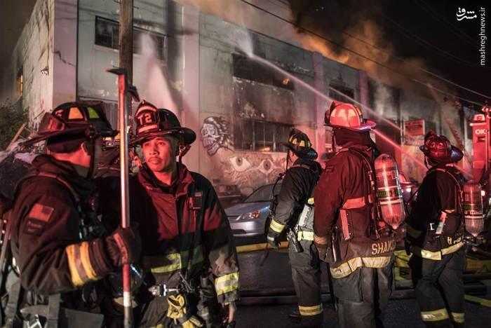 36 کشته بر اثر آتشسوزی شبانه در یک مهمانی، اوکلند آمریکا
