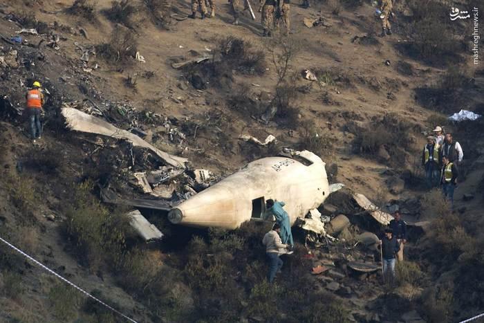 سقوط هواپیمای پاکستانی با 47 مسافر در شمال آن کشور
