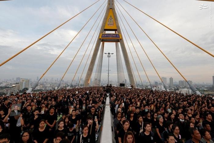 تجمع بانکوکنشینان در سالگرد تولد پادشاهِ درگذشته، بامیپول آدولیاده