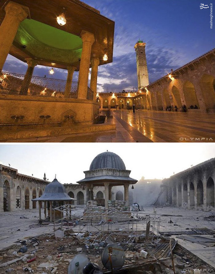 عکس حلب قبل و بعد از جنگ,عکس حلب قبل از جنگ,عکس حلب بعد از جنگ,تصاویر قبل و بعد از حلب