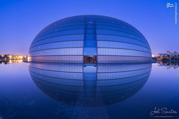 ساختمان زیبای تخم مرغ بزرگ در چین با معماری مدرن