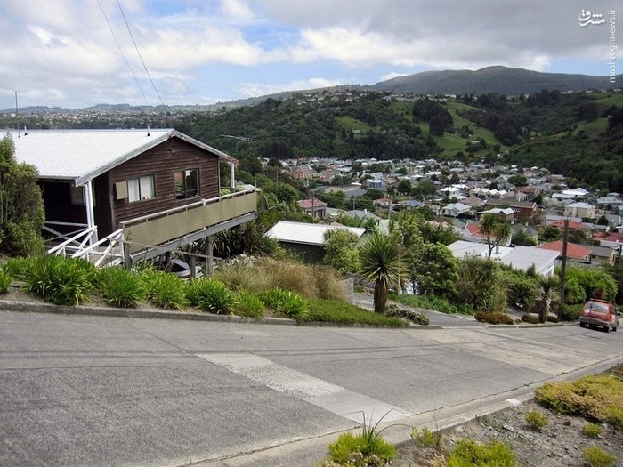 خیابان Baldwin در جنوب نیوزیلند پرشیبترین خیابان