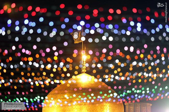 حال و هوای شب میلاد امام حسن عسکری(ع) در حرم رضوی