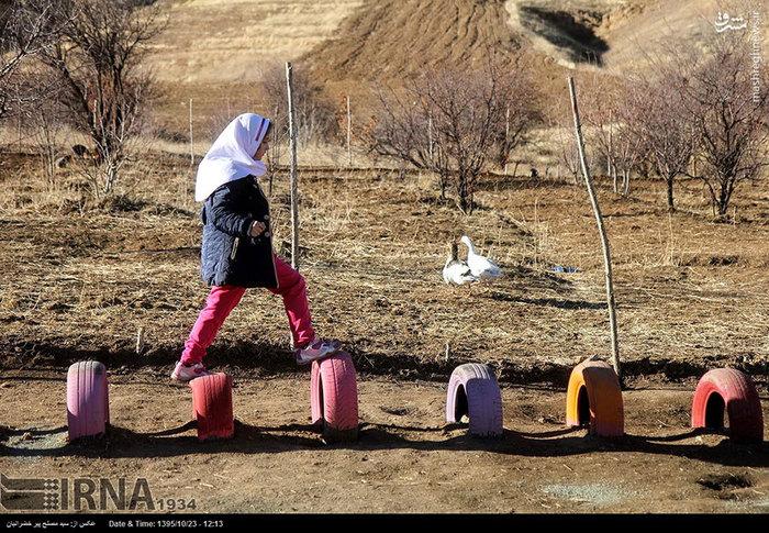 عکس/ نخستین مدرسه طبیعت در کردستان