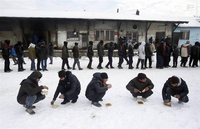 کمک رسانی به پناهجویان در بلگراد با وجود موج جدید سرما