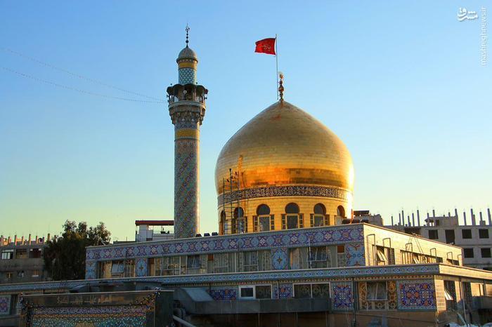 عکس/ نمای زیبا از حرم حضرت زینب(س)صبح امروز