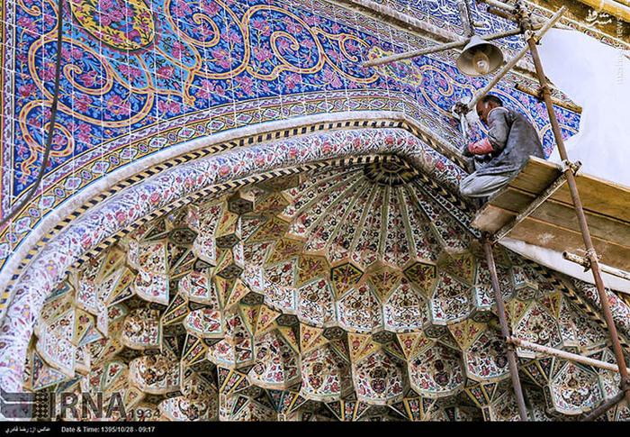 عکس/ روند بازسازی مسجد وکیل شیراز