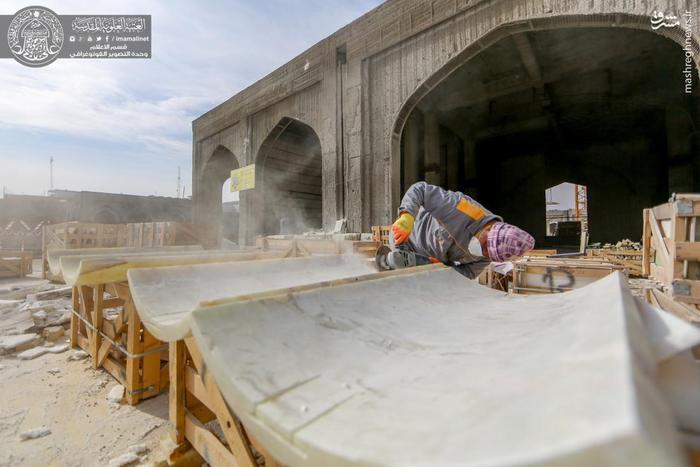 عکس/ جدیدترین تصاویر از پیشرفت ساخت صحن بزرگ حضرت زهرا(س)|2780798