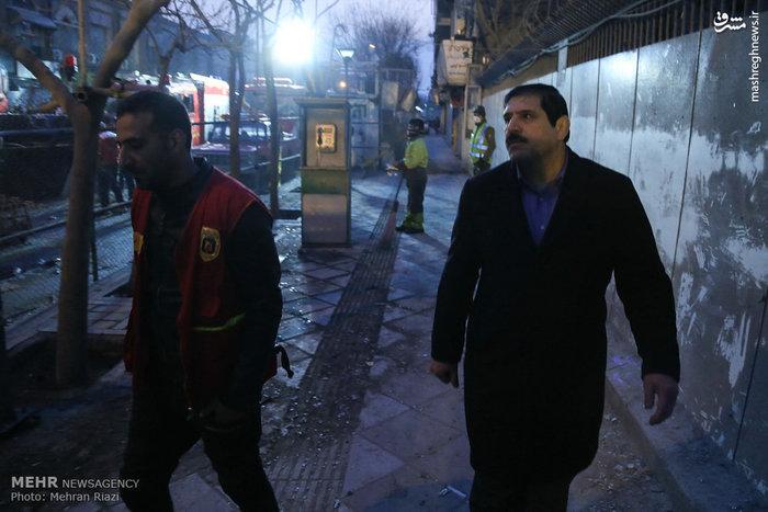 عکس/ حضور عباس جدیدی در حادثه پلاسکو