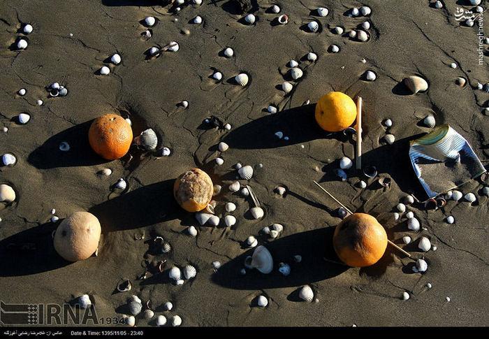 عکس های آلودگی ریختن سواحل خزر,ریختن آشغال در سواحل مازندران,ریختن پرتقال در رودخانه