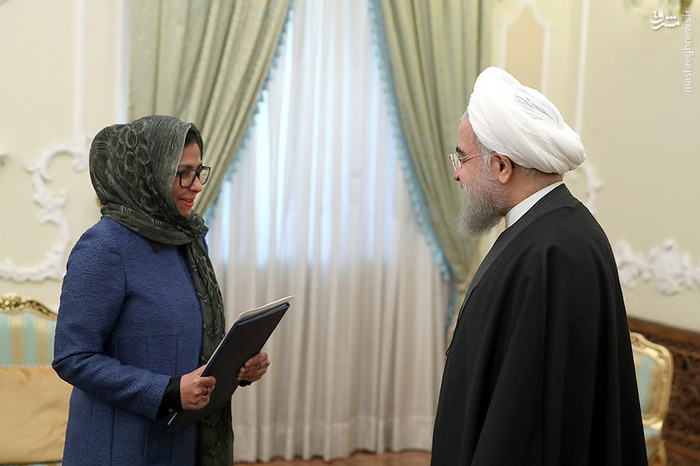 تیپ وزیر نفت ونزوئلا,عکس وزیر نفت ونزوئلا,دیدار حسن روحانی,سیاسی