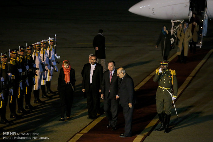 نخست وزیر سوئد , نخست وزیر سوئد و همسرش در ایران , نخست وزیر سوئد و همسرش , استقبال رسمی از نخست وزیر سوئد