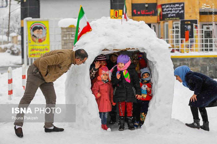عکس/ بارش برف در همدان