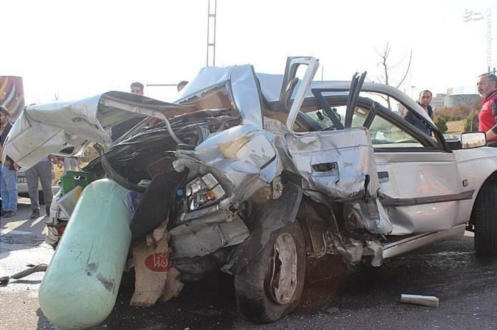 عکس/ تصادف مرگبار پراید و پژو در تهران