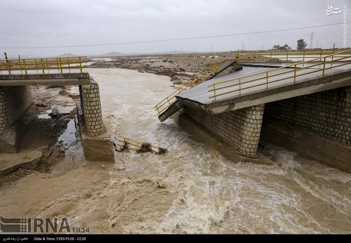 سیل در مناطق روستایی استان فارس