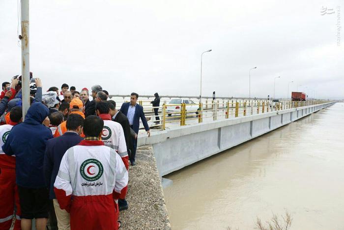 طغیان رودخانه مند در بوشهر