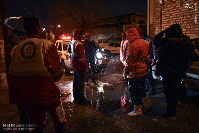 بارش شدید باران و امداد رسانی در فسا