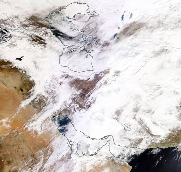 تصویر ناسا از وضعیت جوی در ایران