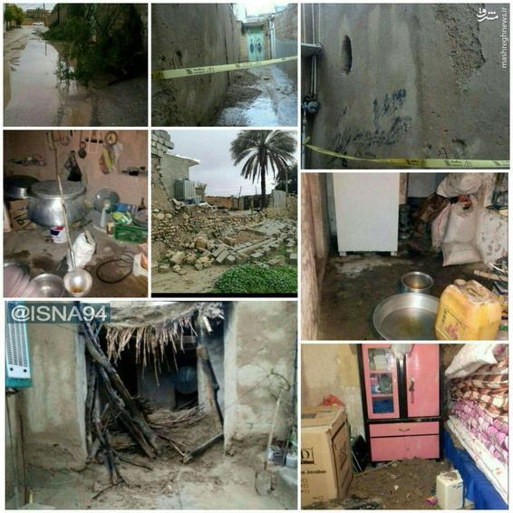عکس/ خسارتهای ناشی از وقوع سیل در جهرم