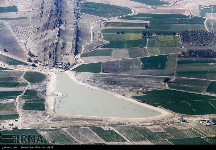 تصاویر هوایی از مناطق سیلزده فارس
