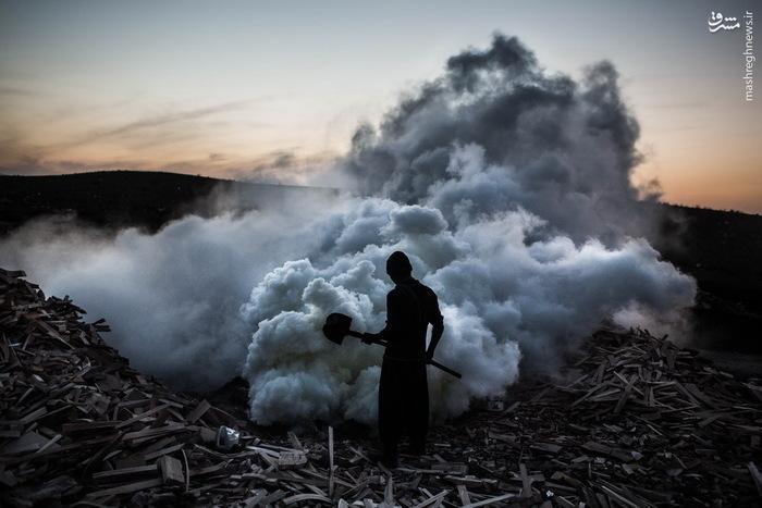 عکس/ کسب رزق حلال از دِل ذغال سیاه|2782493