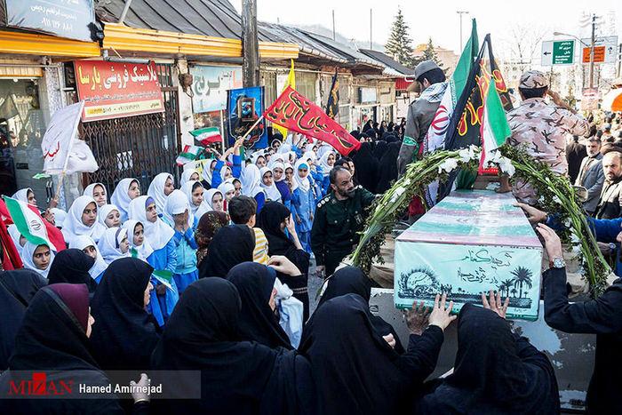 تصاویر/ استقبال از 7 شهید گمنام در مازندران