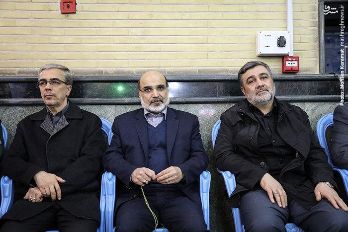 سردار اشتری (فرمانده ناجا)، عبدالعلی علیعسکری (رئیس سازمان صدا وسیما) و سرلشکر باقری (فرمانده ستادکل نیروهای مسلح)