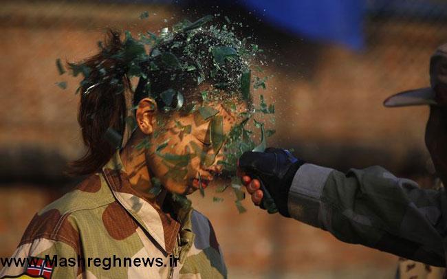 عکس/دختر حرف گوش کن ارتش کره