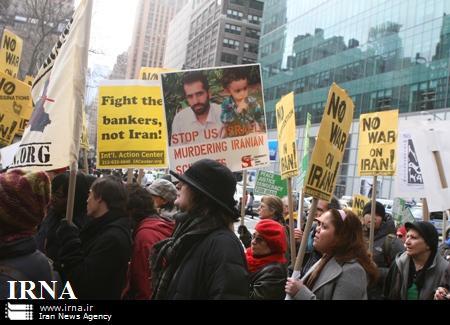 تظاهرات مردم امریکا علیه سیاست ضد ایرانی دولت امریکا