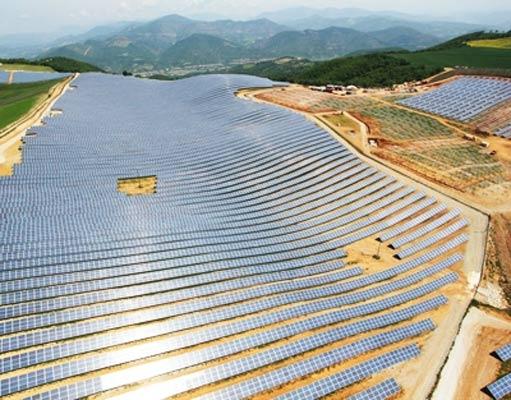 عکس مزرعه تولید برق