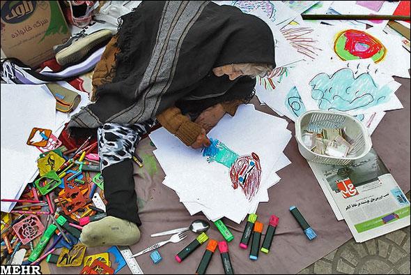 ع پسربچه تصاویر/ نقاشیهای کودکانه ننه صنوبر