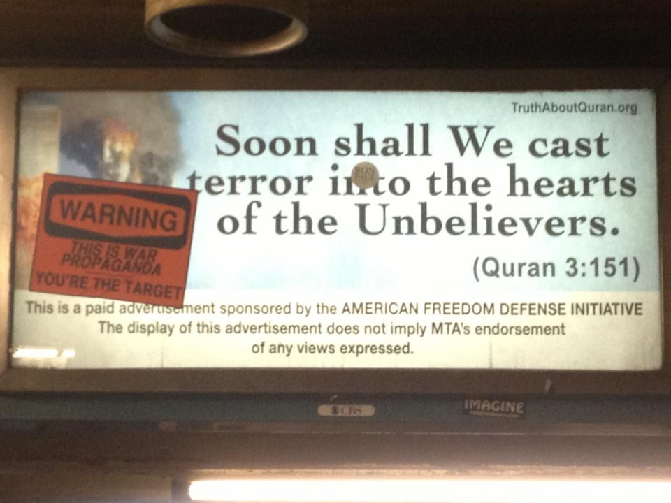جدیدترین تبلیغات علیه اسلام در آمریكا/ عكس