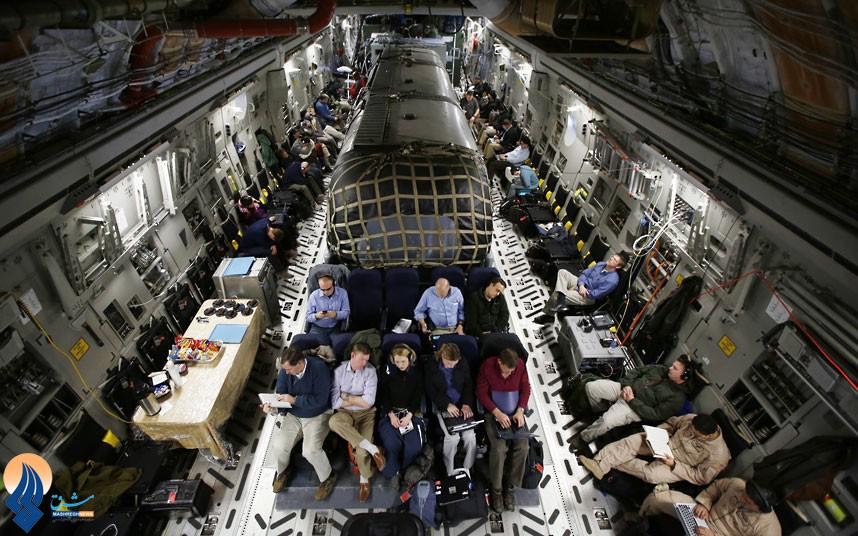 عکس/هواپیمای جالب وزیر دفاع آمریکا