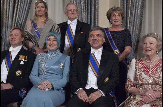 عکس/گل و همسرش در ضیافت ملکه هلند