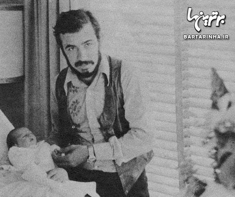 عکس علی حاتمی و دخترش