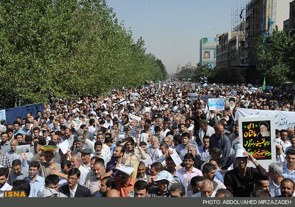 خروش مردم ایران علیه اسلام ستیزان